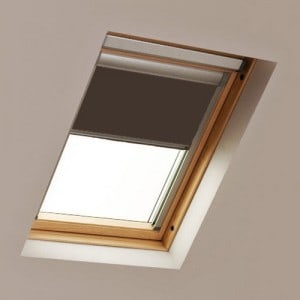 Brown Luctis Roof Skylight Blind