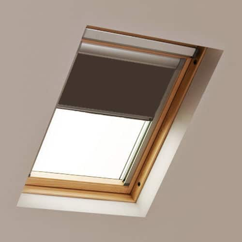 Brown Roto Skylight Roof Blind