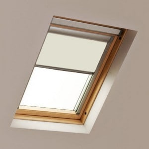 Cream LUCTIS Blackout roof skylight blinds