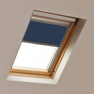 Navy Blue Roto Roof Sklight Blind