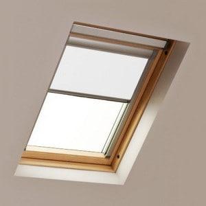 White LUCTIS Blackout Roof Skylight Blind