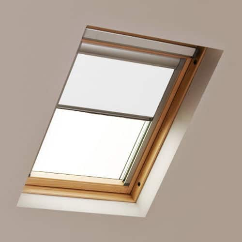 White LUCTIS Blackout Roof Skylight Blind