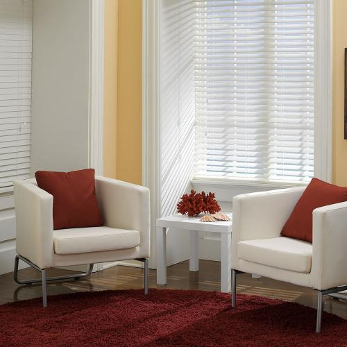 Cheapest Blinds Uk Ltd Bright White Faux Wood With Cords