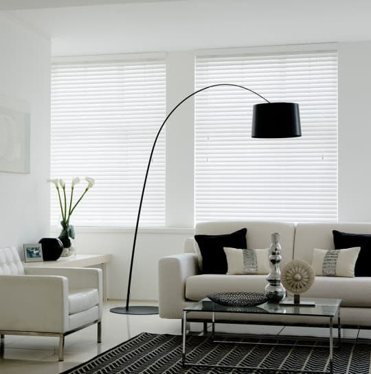 Cheap white faux wood blinds