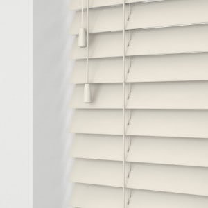 Cheap cream faux wooden venetian blinds with cords