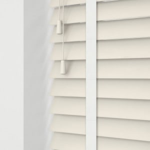 Cheap Cream Faux Wooden Blinds With Tapes