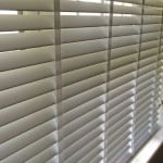 white faux wood venetian blinds with tapes