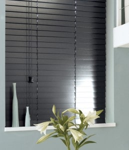 Cheap Next Day Black Wooden Venetian Blinds