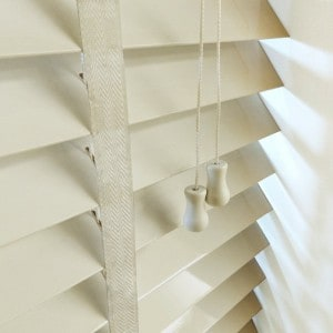 Next Day Alabaster Wood Cheap Venetian Blinds With Tapes