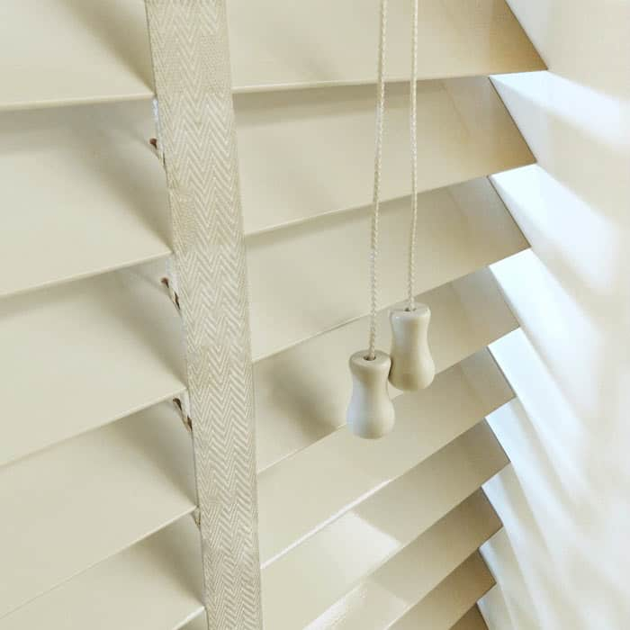 next day alabaster wood venetian blinds with tapes