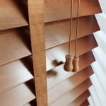 Next Day Bronzed Oak Wooden venetian Blinds With Tapes