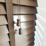 Cheap next day walnut wood venetian blinds with tapes