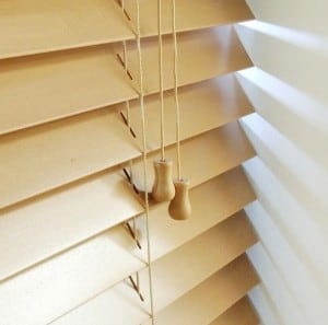 next day light oak wood venetian blinds with cords