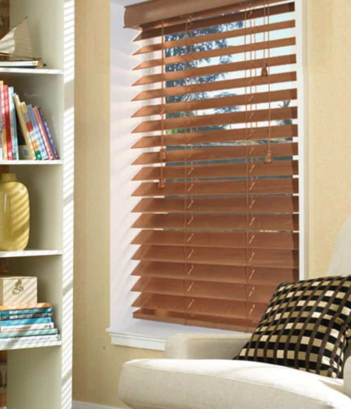 Cheap Next Day Bronzed Oak Wood Venetian Blinds