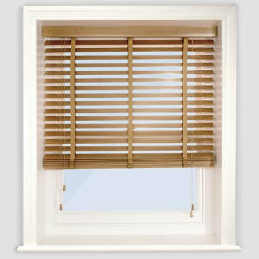 Next Day Medium Oak Wood Venetian Blinds With Tapes