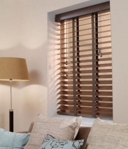 Next Day Walnut Wood Venetian Blinds With Tapes