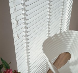 Next Day White Wood Venetian Blinds With Tapes