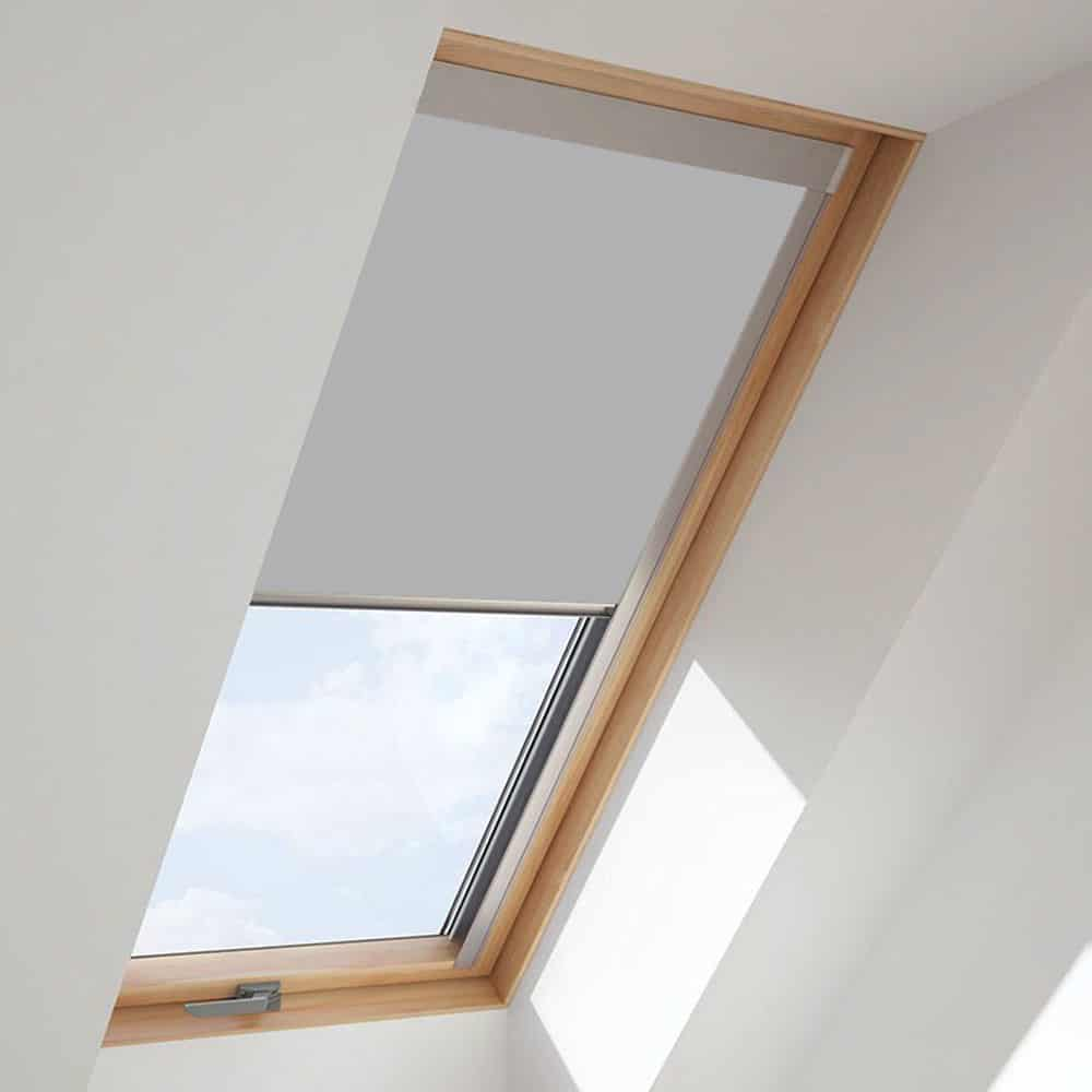 Cheapest blinds uk ltd light grey roof skylight blind for Velux glass