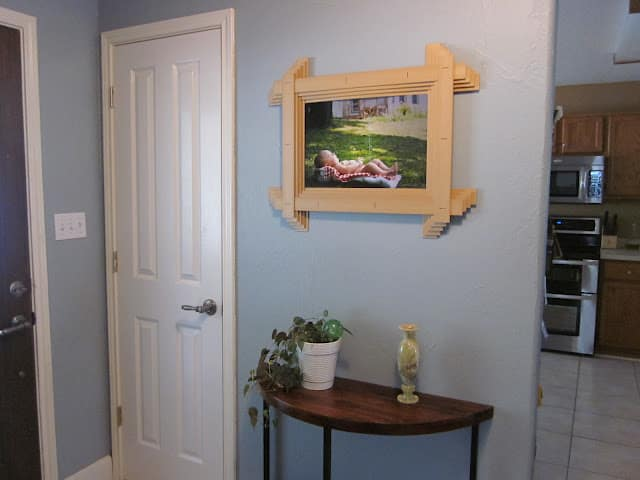 wood blind picture frame