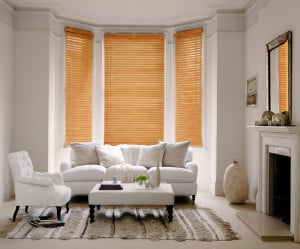 Tuscan Oak Wooden Venetian Blinds With Cords