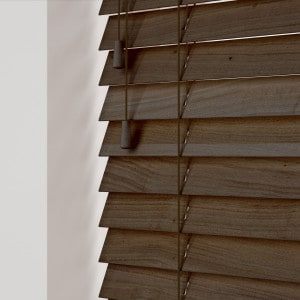 Walnut Wooden Venetian Blinds With Cords