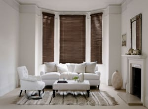 Walnut Wooden Venetian Blinds With Cords Room