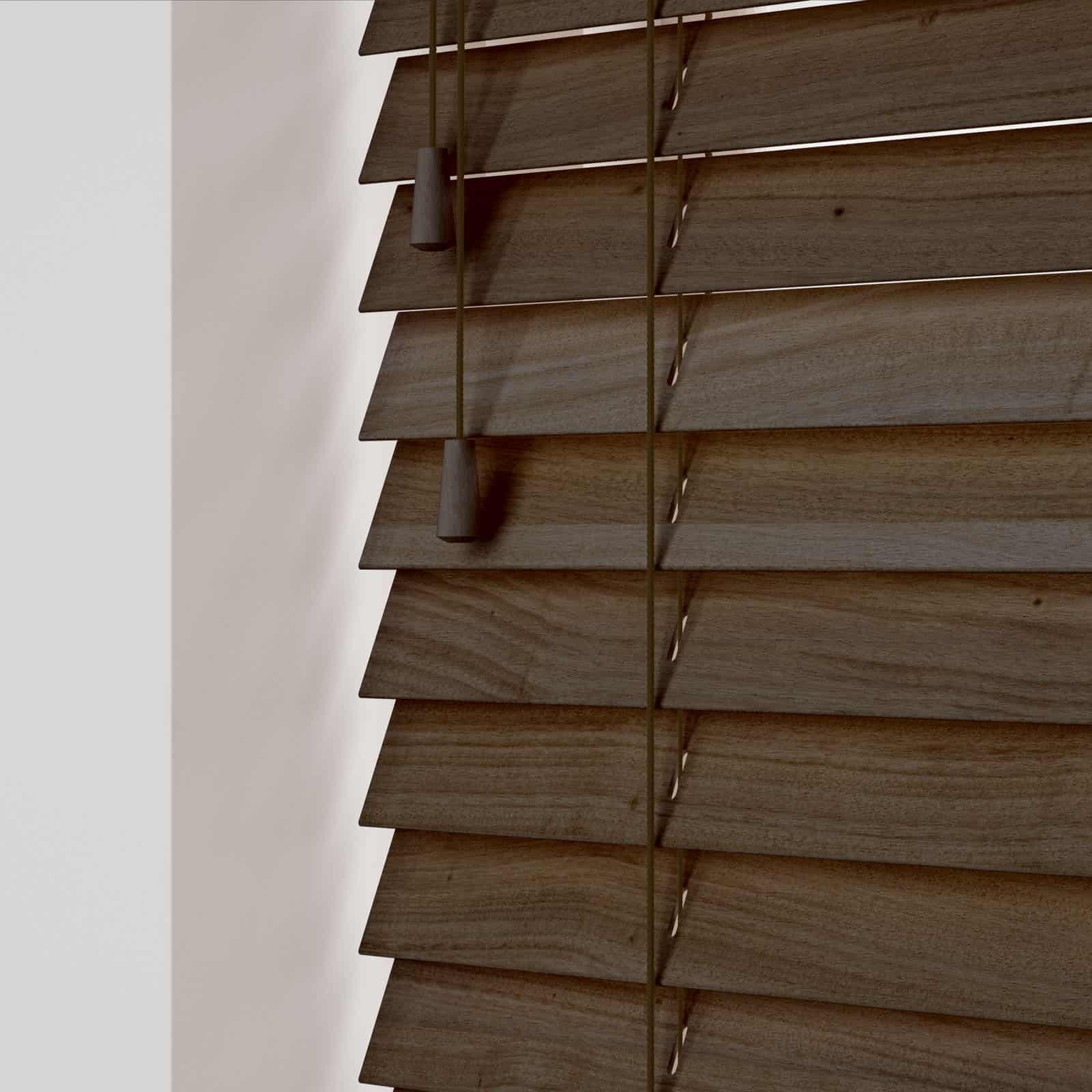 Cheapest Blinds Uk Ltd Premium Walnut Wood Venetians