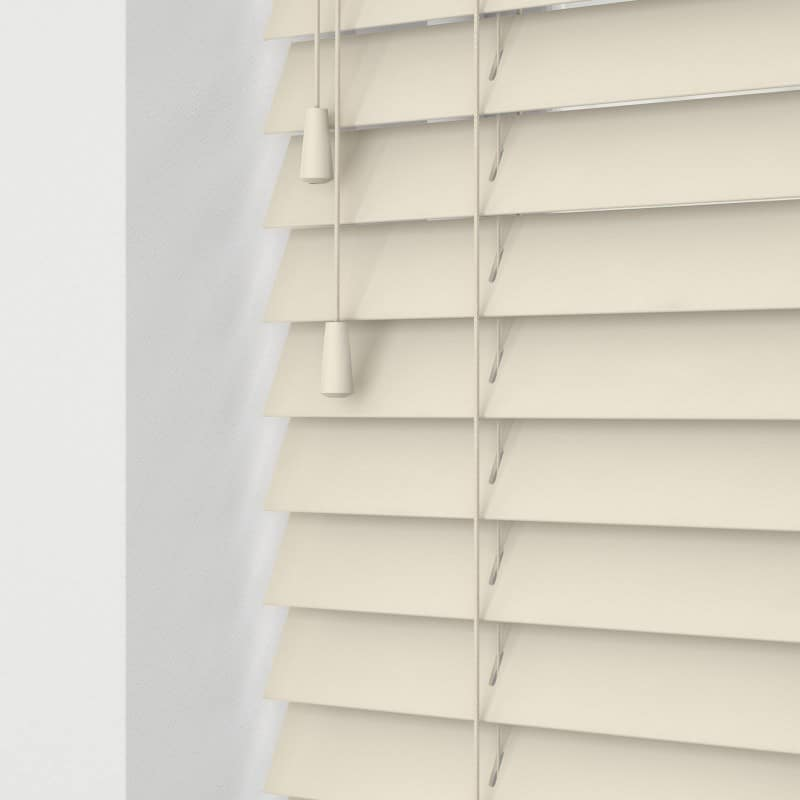 Cheapest Blinds Uk Ltd Ready Made Cream Wood Venetians With Cords