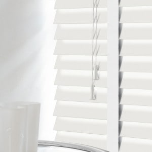 White Wood Venetian Blinds With Tapes