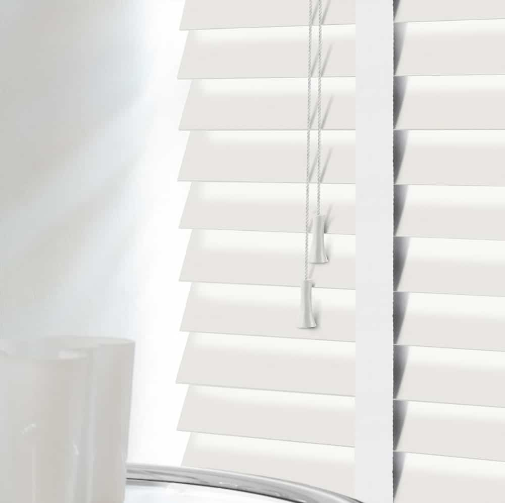 Cheapest Blinds Uk Ltd Premium White Wood Venetians With Tapes