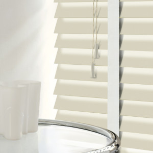 Ivory Wood Blinds With Tapes