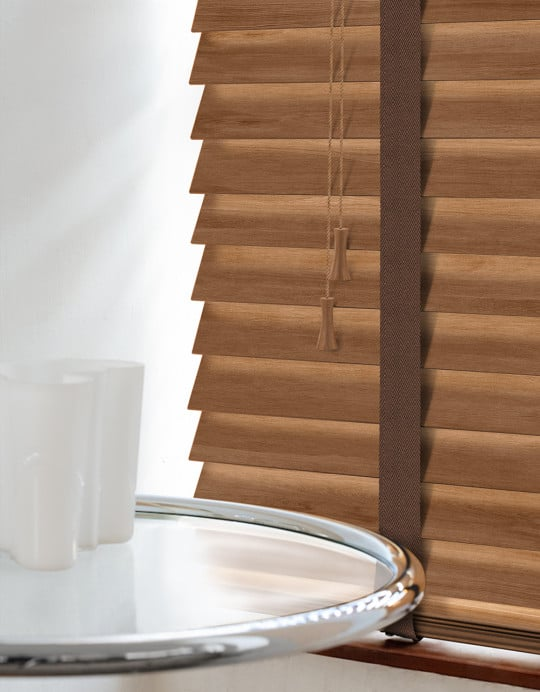 Rowan Wood Venetian Blinds With Tapes