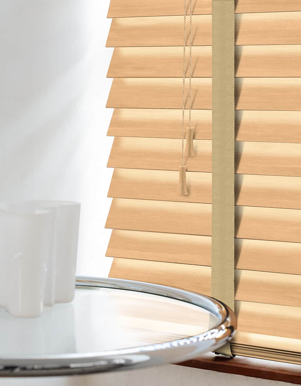 Cheapest Blinds Uk Ltd Premium Tawny Wood Venetians