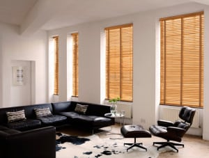 Tuscan Oak Wooden Venetian Blinds With Tapes