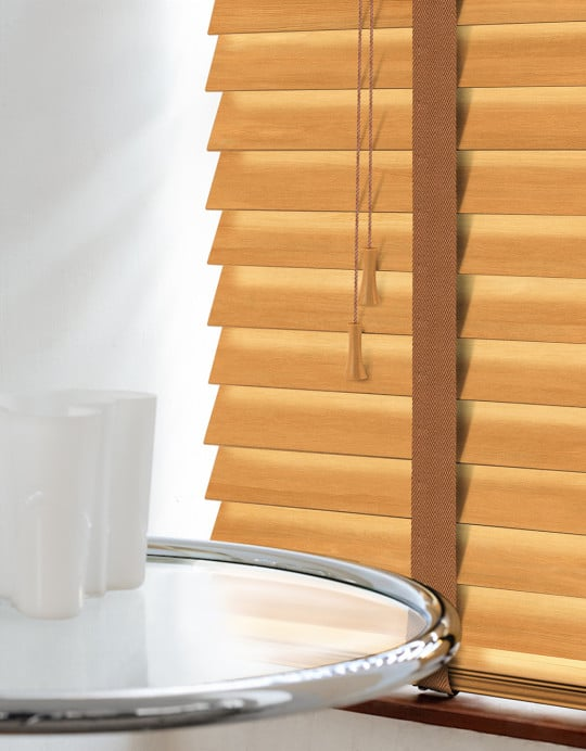 Tuscan Oak Wood Venetian Blinds With Tapes