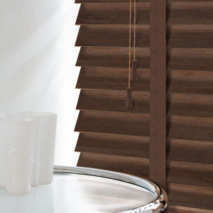 Walnut Wood Venetian Blinds With Tapes
