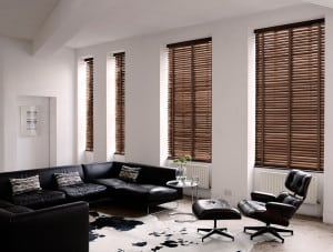 Walnut Wooden Venetian Blinds With Tapes