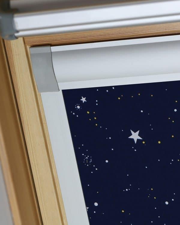 Night Sky Velux Skylight Roof Blind Fabric Close Up