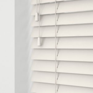 antique white wood venetian blinds with cords