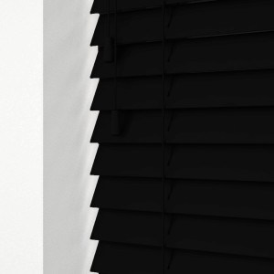 Black Wood Venetian Blinds With Cords