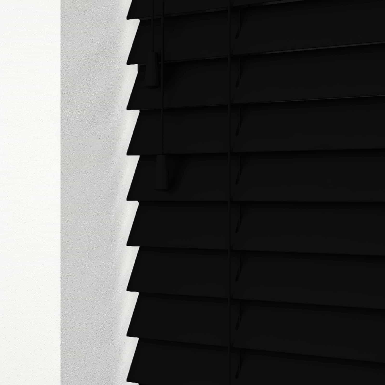 Cheapest Blinds Uk Ltd Ready Made Black Wood Venetians