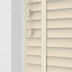 Cheap Butter Cream Faux Wood Blinds With Tapes