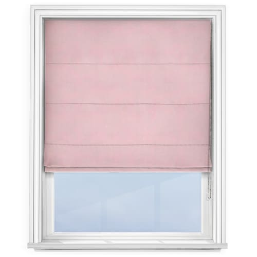 Light Pink Roman Blind
