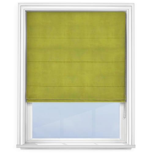 Cheapest Blinds Uk Ltd Lime Green Roman Blind
