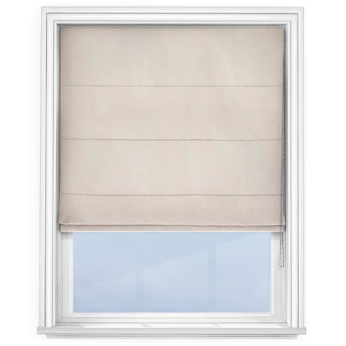 cheap linen roman blind