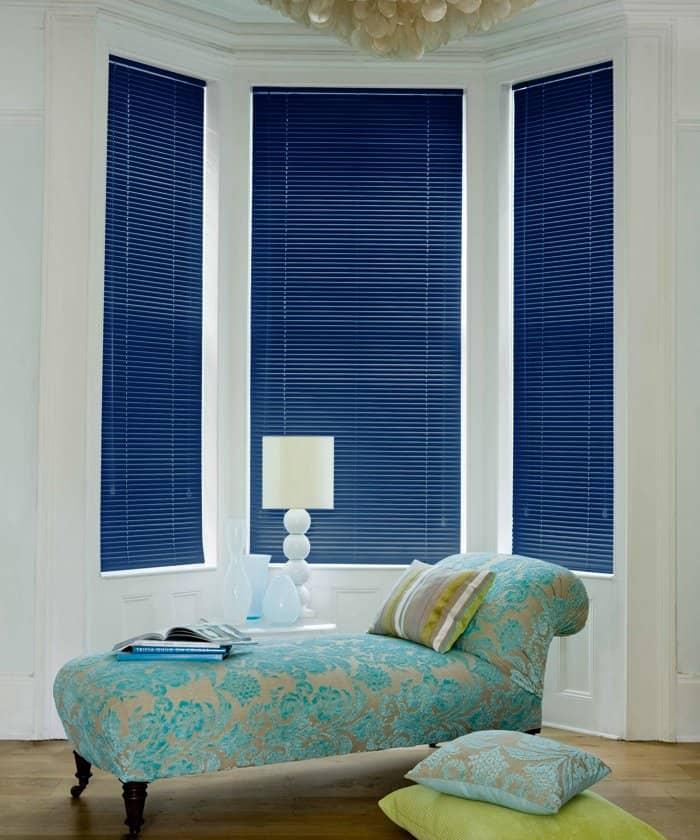 Cheapest Blinds Uk Ltd Navy Blue Aluminium Venetian Blinds