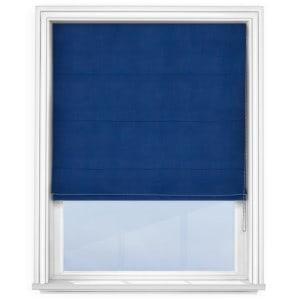 Navy Blue Roman Blind