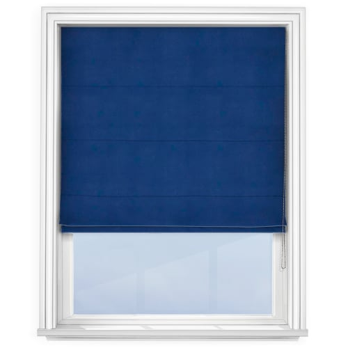 Navy Blue Roman Blind