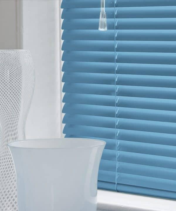 Ocean Blue Aluminium Venetian Blinds