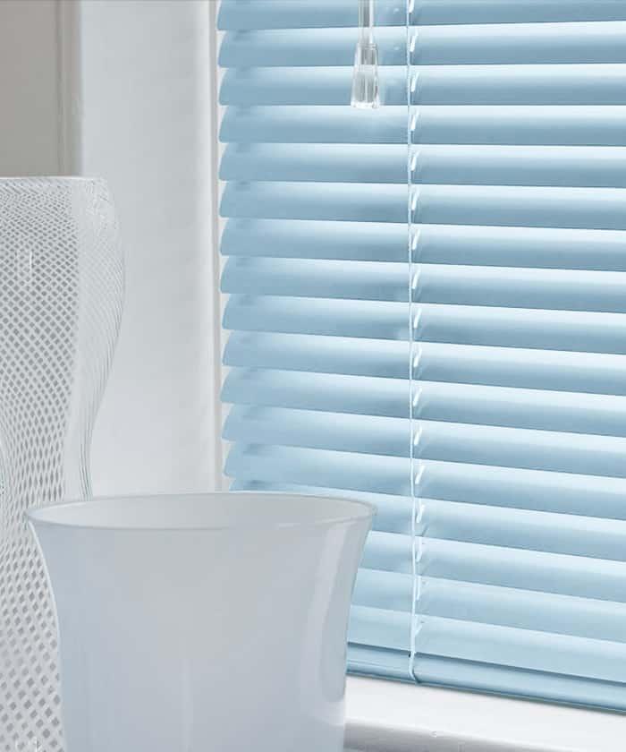 Cheapest Blinds Uk Ltd Pastel Blue Aluminium Venetian Blinds